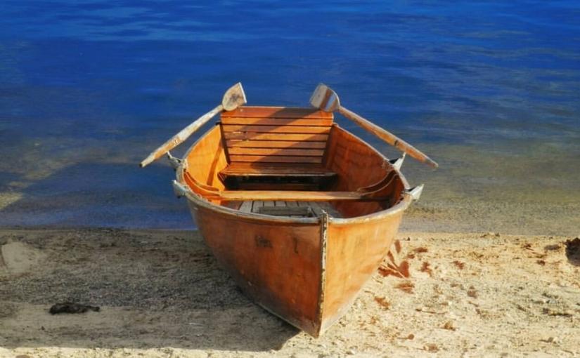 A tiny boat